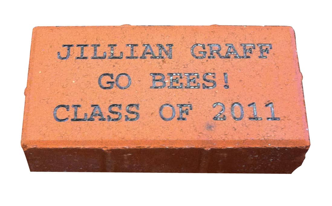 laser engraved brick