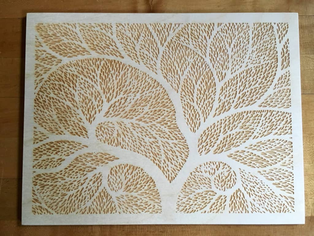 laser engraved wall decor