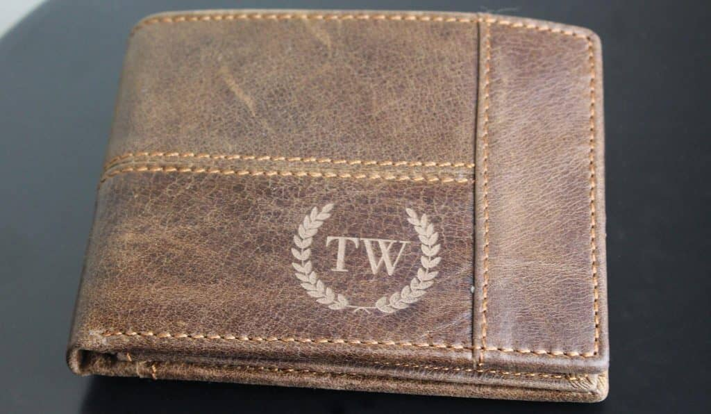 Leather Engraved Wallet