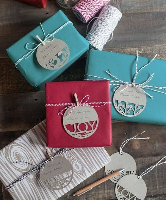 laser cut gift tags