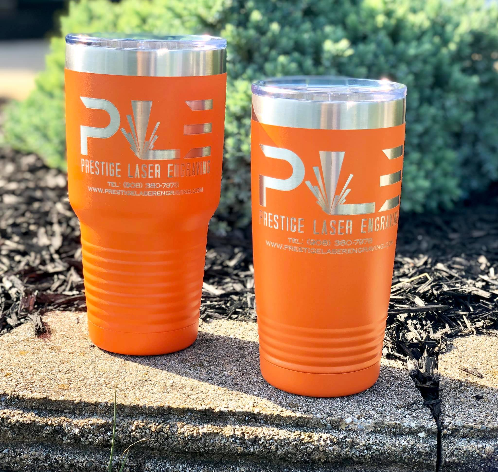 Rotary engraved cups