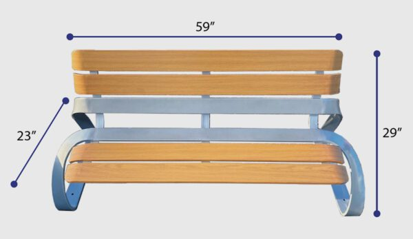 Bench Engraving with Dimensions