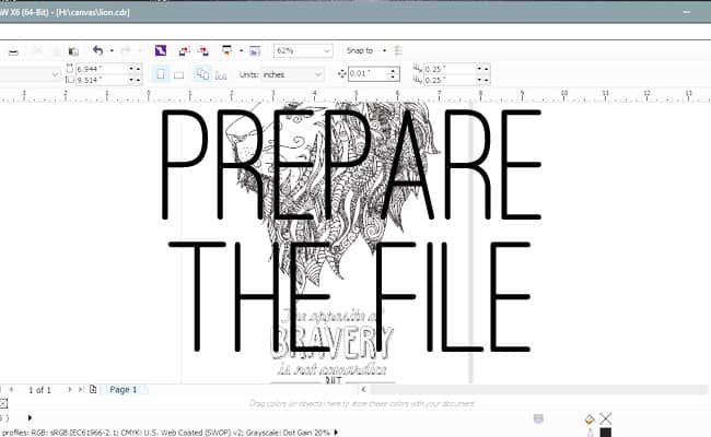 Prepare the file