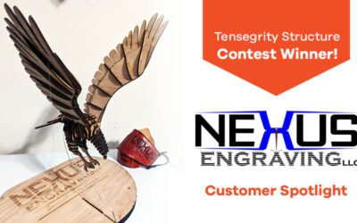 Customer Spotlight: Nexus Engraving on the Tensegrity Structure