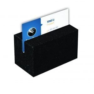 Jet Black Granite Business Card Holder-0