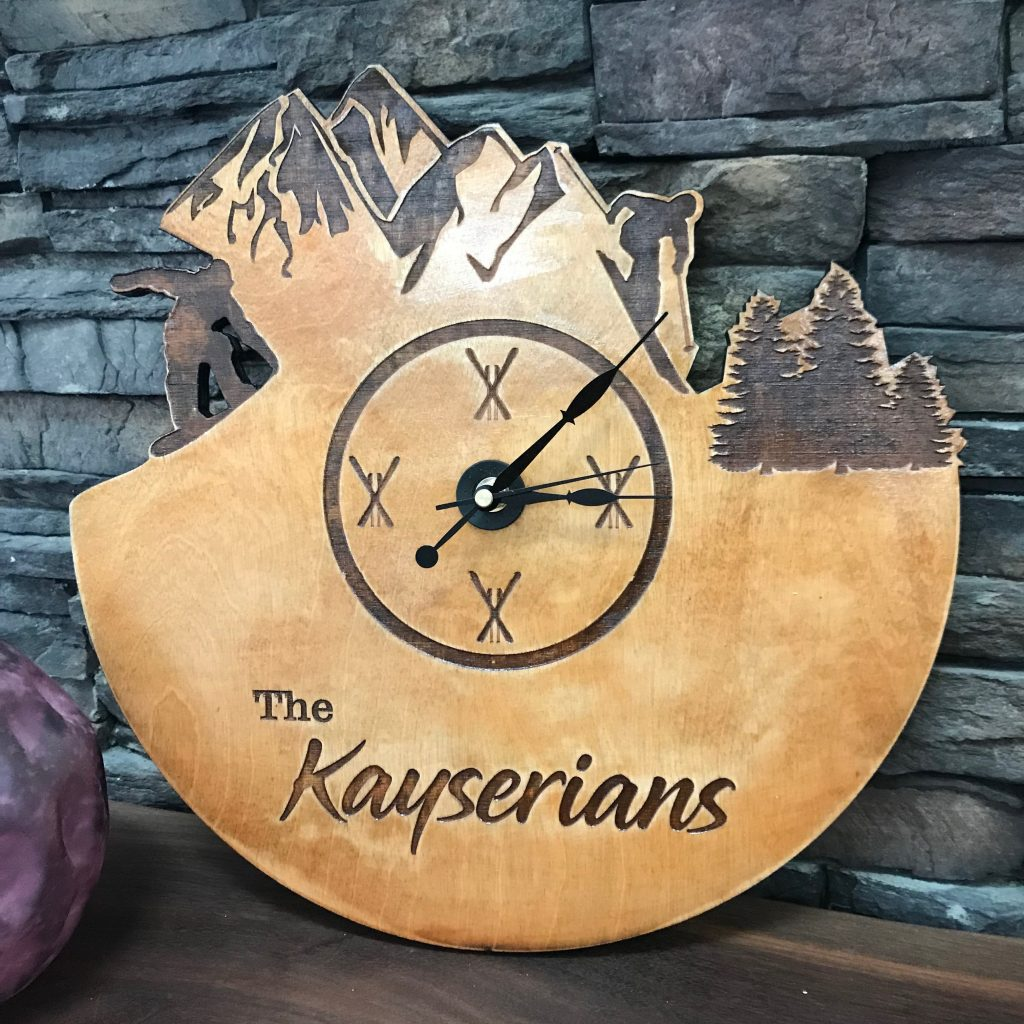 Laser Cut And Engraved Clock