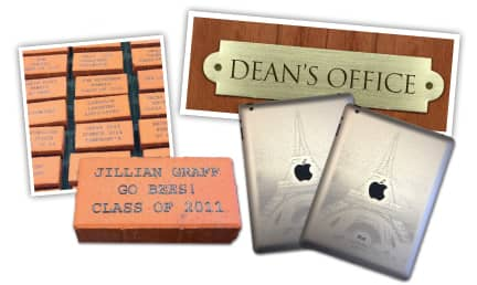 laser engraved school items