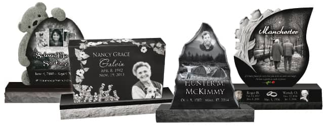 Laser Engraved Granite Memorials