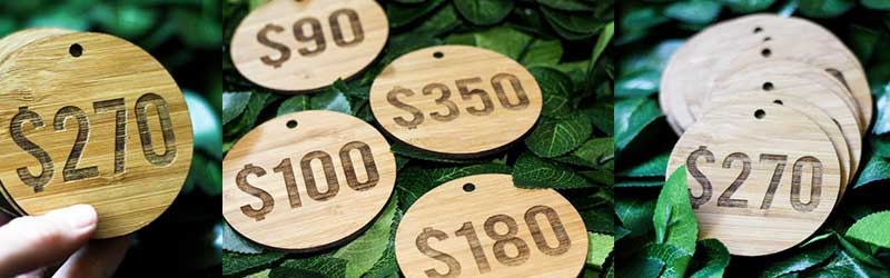 Laser Engraved Bamboo Tags
