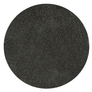 "Jet Black Granite Circle Plaque 5.9"" diameter x 3/8"" Thick-0"