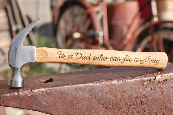 Personalized Hammer Created With A Laser Cutting Machine
