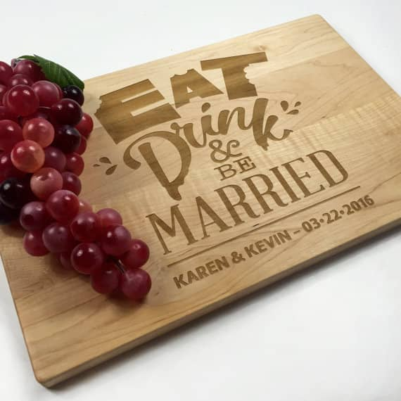 personalized cutting board created with a laser cutting machine