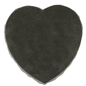 Jet Black Granite Heart Shaped Pet Marker Blank-0