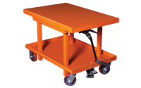 photo of mechanical lift cart