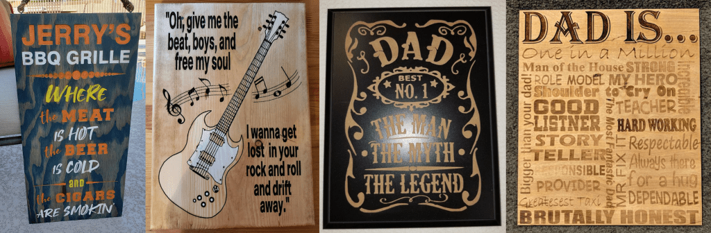 Lasered Wood Signs