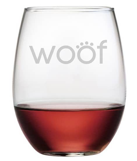 Laser Etched Wine Glass
